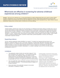 Rapid Evidence Review ACEs Screening