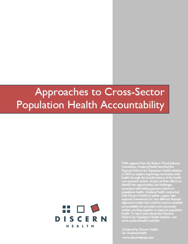Approaches to Cross-Sector Population Health Accountability