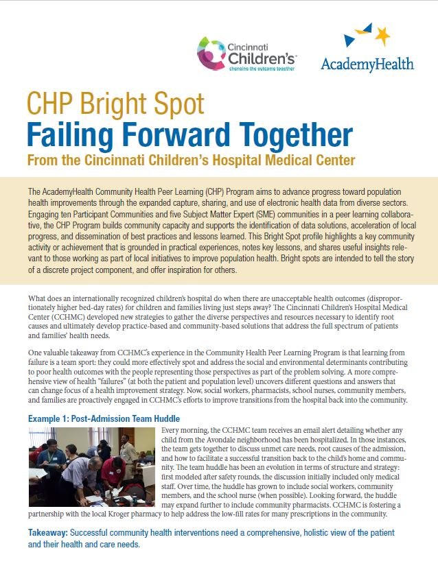 CHP Bright Spot: Failing Forward Together