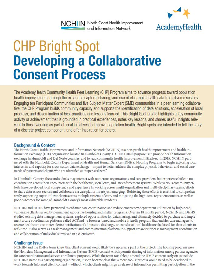 Developing a Collaborative Consent Process