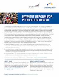 Payment Reform for Population Health
