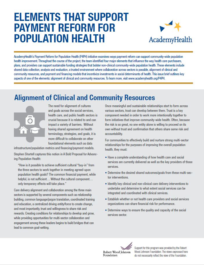 Alignment of Clinical and Community Resources