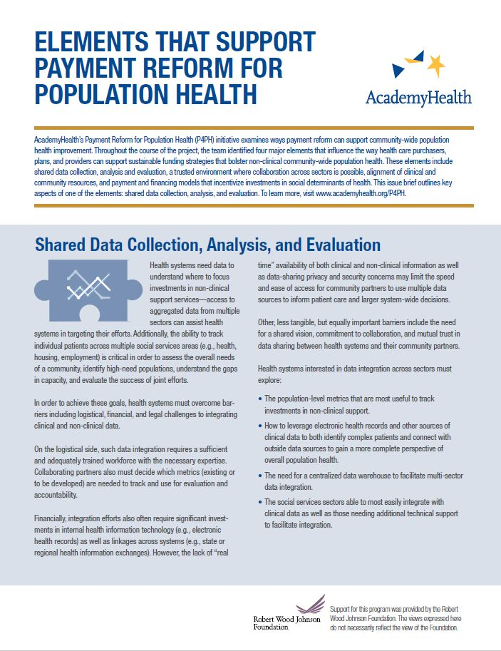 Shared Data Collection, Analysis, and Evaluation