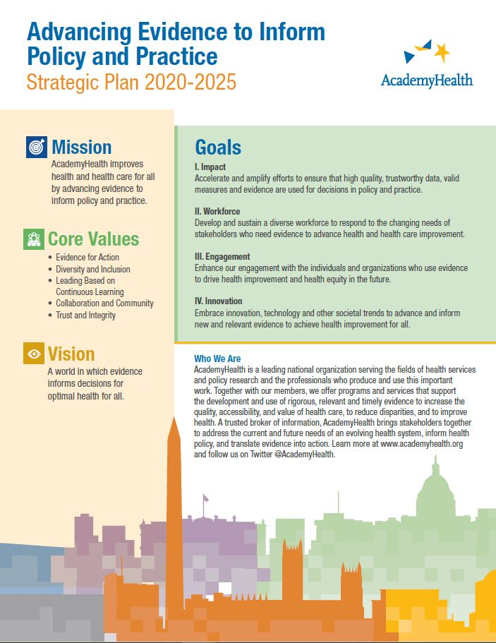 Advancing Evidence to Inform Policy and Practice: Strategic Plan 2020-2025