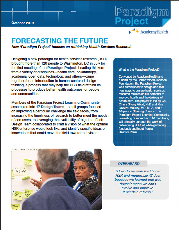 Forecasting report cover image