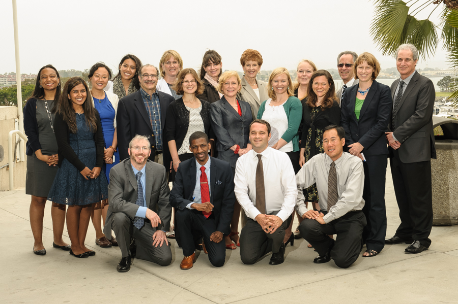 group photo of 2013 dssf fellows with AcademyHealth staff and host site preceptors at the Annual Research Meeting