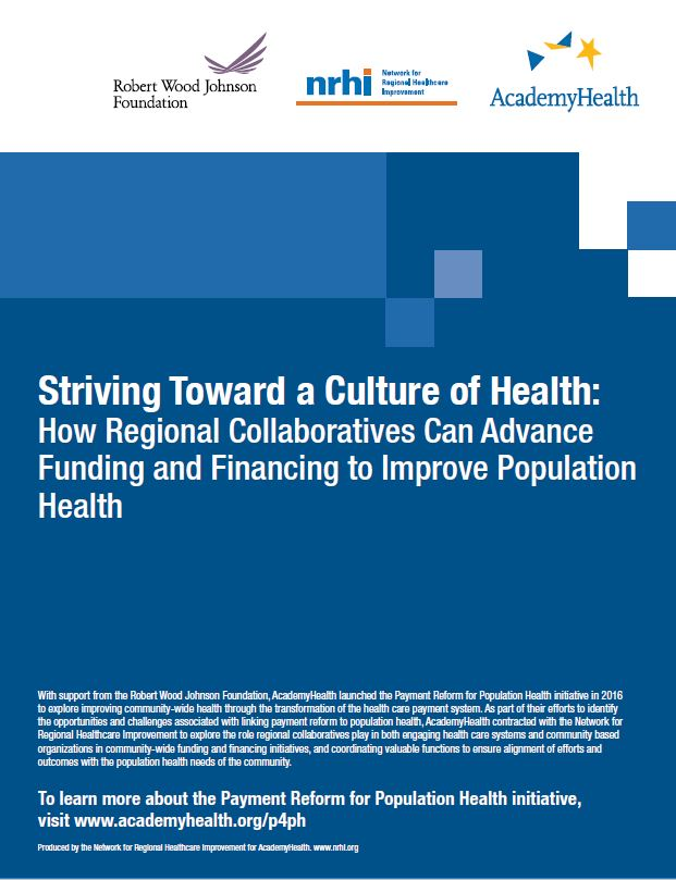 How Regional Collaboratives Can Advance Funding and Financing to Improve Population Health
