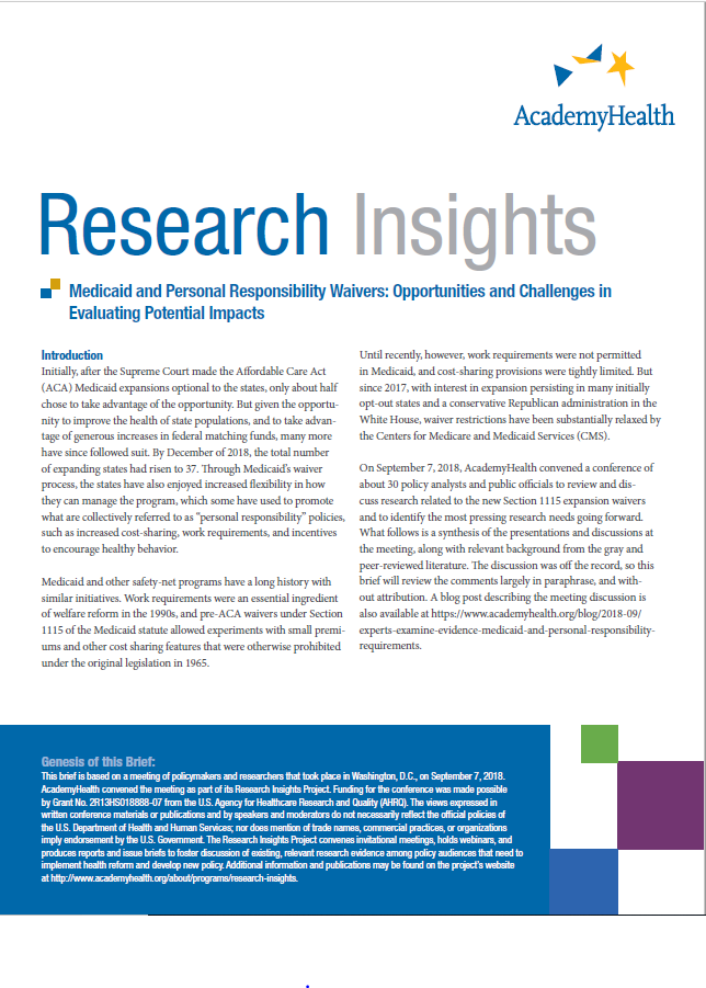 Research Insights Issue Brief