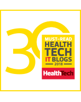 Top 30 Health Tech IT blog badge