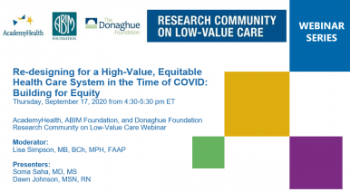 Three Key Equity Considerations for Advancing High-Value Care